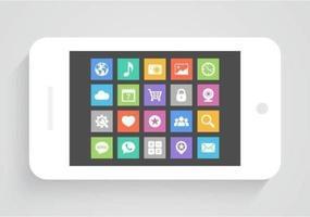 Icone vettoriali mobile app