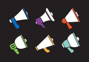 Set di icone vettoriali di Magaphone