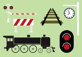Collezione ferroviaria vettoriale
