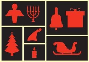 Collezione di icone di Natale vettore