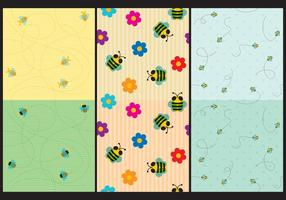 modelli di api carina vettore