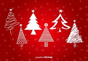 Albero di Natale Forme stilizzate vettore