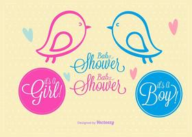 Doodles Baby Shower vettore