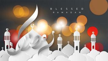 biglietto di auguri stile carta ramadan kareem