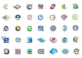 collezione moderna lettera iniziale e vettore