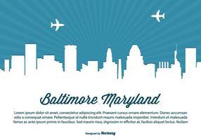 Illustrazione dell'orizzonte di Baltimora Maryland vettore