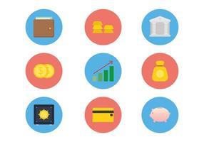 vettori di icone di banca