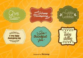 Etichette vintage del Ringraziamento