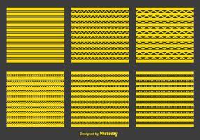 Zigzag giallo e motivi geometrici vettore