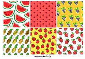 Modelli di sfondo di frutta vettore