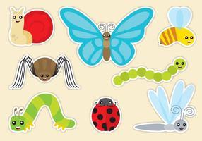 Vettori di insetti del fumetto
