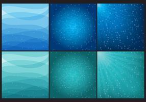Sfondi di acqua blu e verde vettore