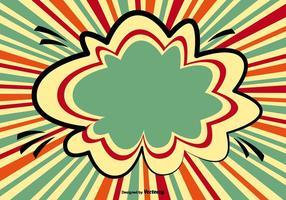 Illustrazione di sfondo colorato stile comico vettore
