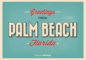 Illustrazione di saluto di Palm Beach Florida vettore