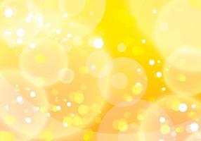 Vettore giallo del fondo di Bokeh