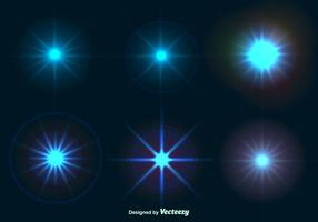 Effetti di luce splendente stella