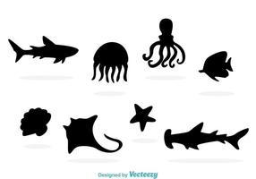 Sealife Silhouette Vettori