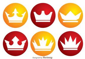 Vettori di logo corona cerchio