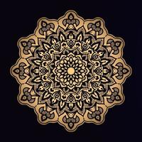 mandala dorata a forma di stella