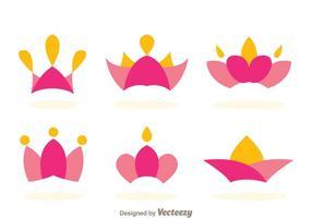 Vettori di logo di principessa corona