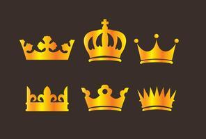Vettori di logo corona d'oro