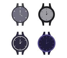 set di icone di orologi da polso vettore