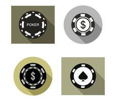 set di icone di poker vettore