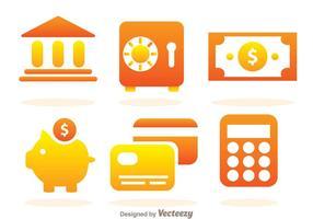 Icone semplici della banca