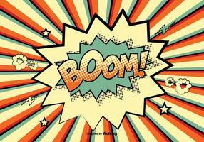 Comic Style Boom! Illustrazione vettore