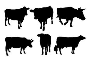 vettore di sagoma di mucca
