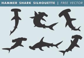Vettore libero della siluetta dello squalo martello