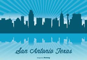 Illustrazione di Skyline del Texas vettore