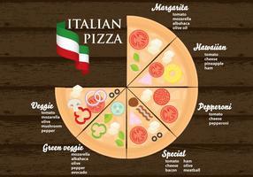 Vettore del menu della pizza