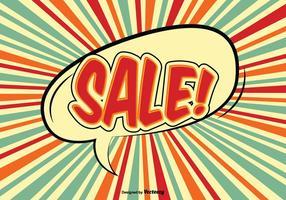 Illustrazione di vendita di stile comico vettore