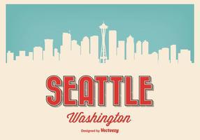 Retro illustrazione di Seattle Washington vettore