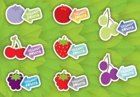 Etichette di frutta vettore