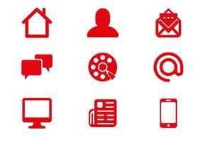 Vettore libero delle icone di comunicazione
