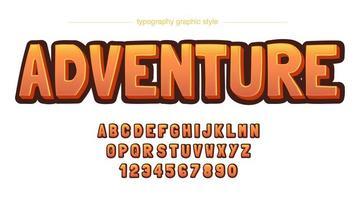 spigoli vivi grassetto alfabeto comico arancione vettore