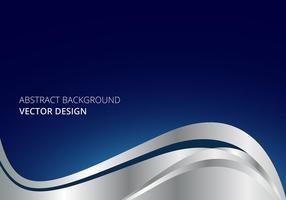 Design d'onda d'affari in stile argento vettore