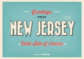 Saluti dall'illustrazione del New Jersey