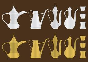 Caffettiere arabe vettore