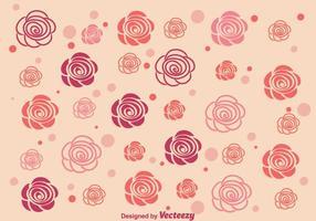 Sfondo di rose astratte vettore
