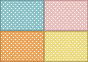 Vettore libero dei modelli dei puntini di Polka del bambino