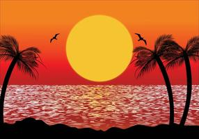 Illustrazione di scena tropicale vettore