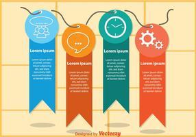 Etichettare i vettori di infografica