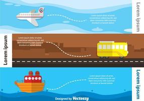 Infografia del trasporto pubblico vettore