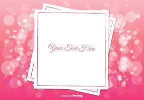 Bella illustrazione di sfondo rosa Bokeh