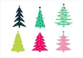 Insieme di vettore dell'albero di Natale