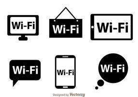 Wifi indietro Logo Vettori