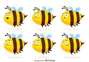 Vettori di ape carina con espressioni